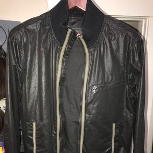 John Varvatos black bomber jacket